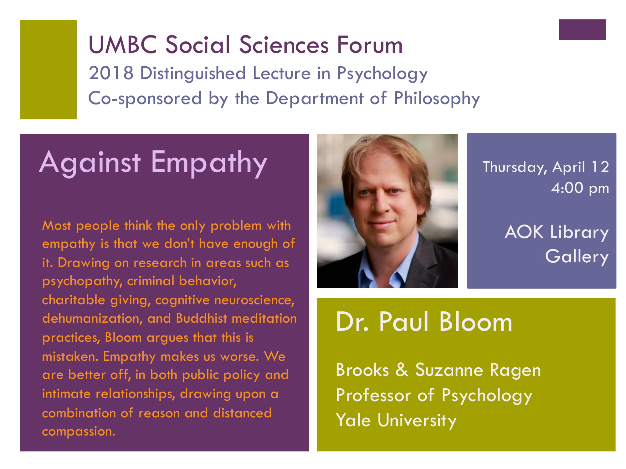 UMBC Social Sciences Forum